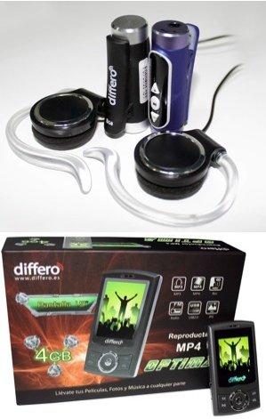 Differo lanza al mercado 4 nuevos reproductores MP4 y MP3