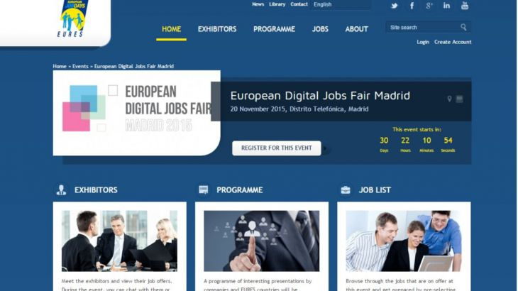 Llega a Madrid el próximo 20 de Noviembre la Feria Europea de Empleo Digital