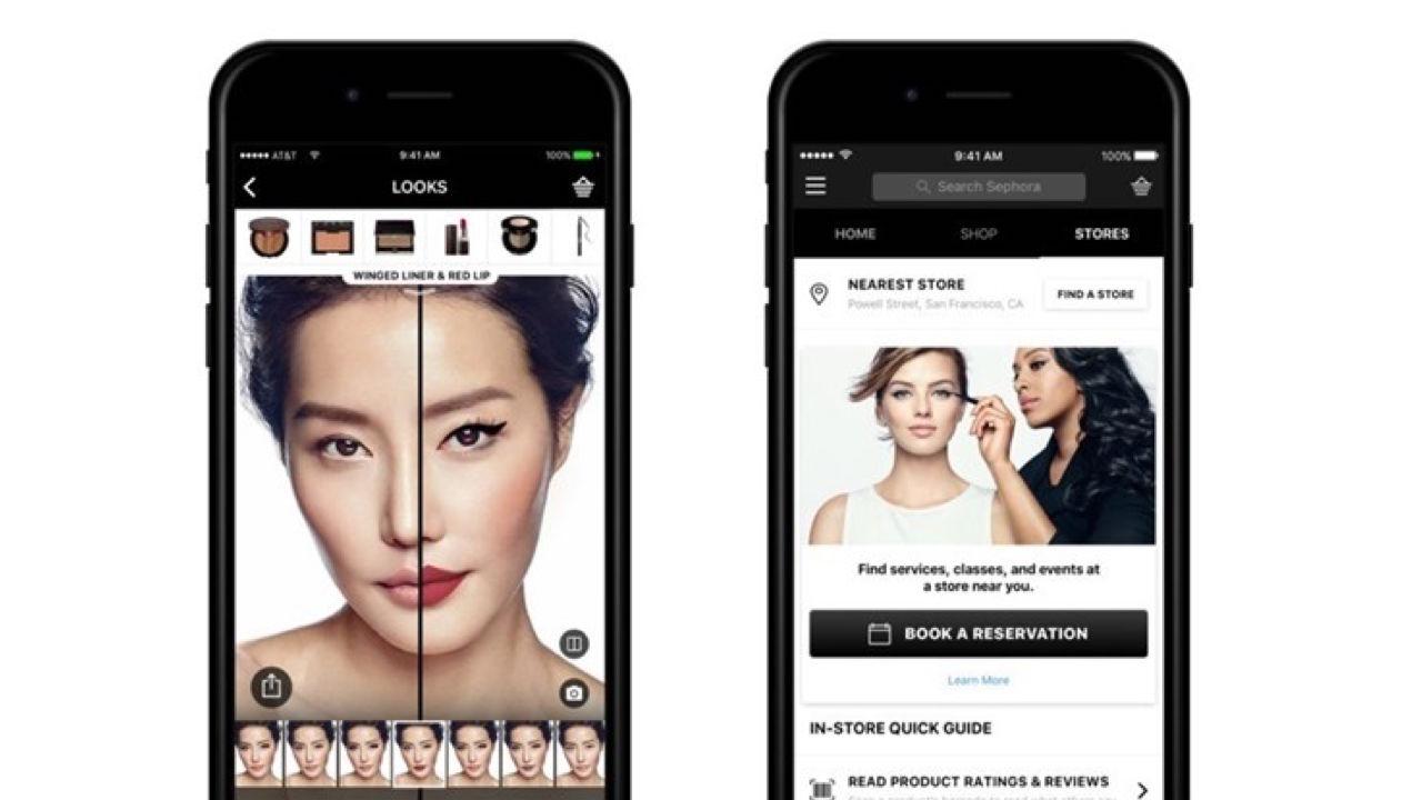 La 'app' de Sephora introduce una función de realidad aumentada para probar maquillaje desde el móvil