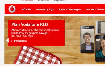 Vodafone aumenta sus ingresos por internet
